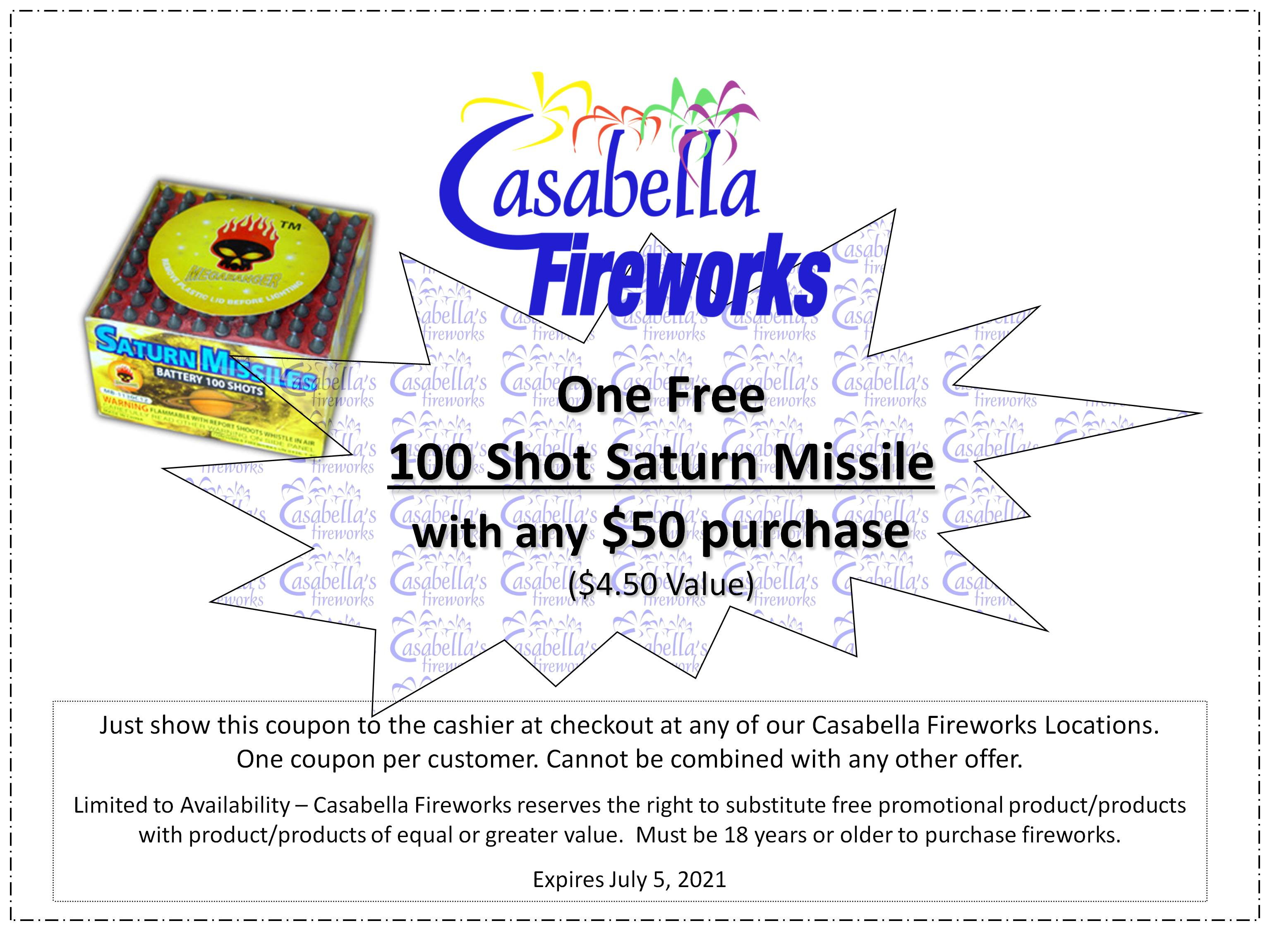 Fireworks discount coupons
