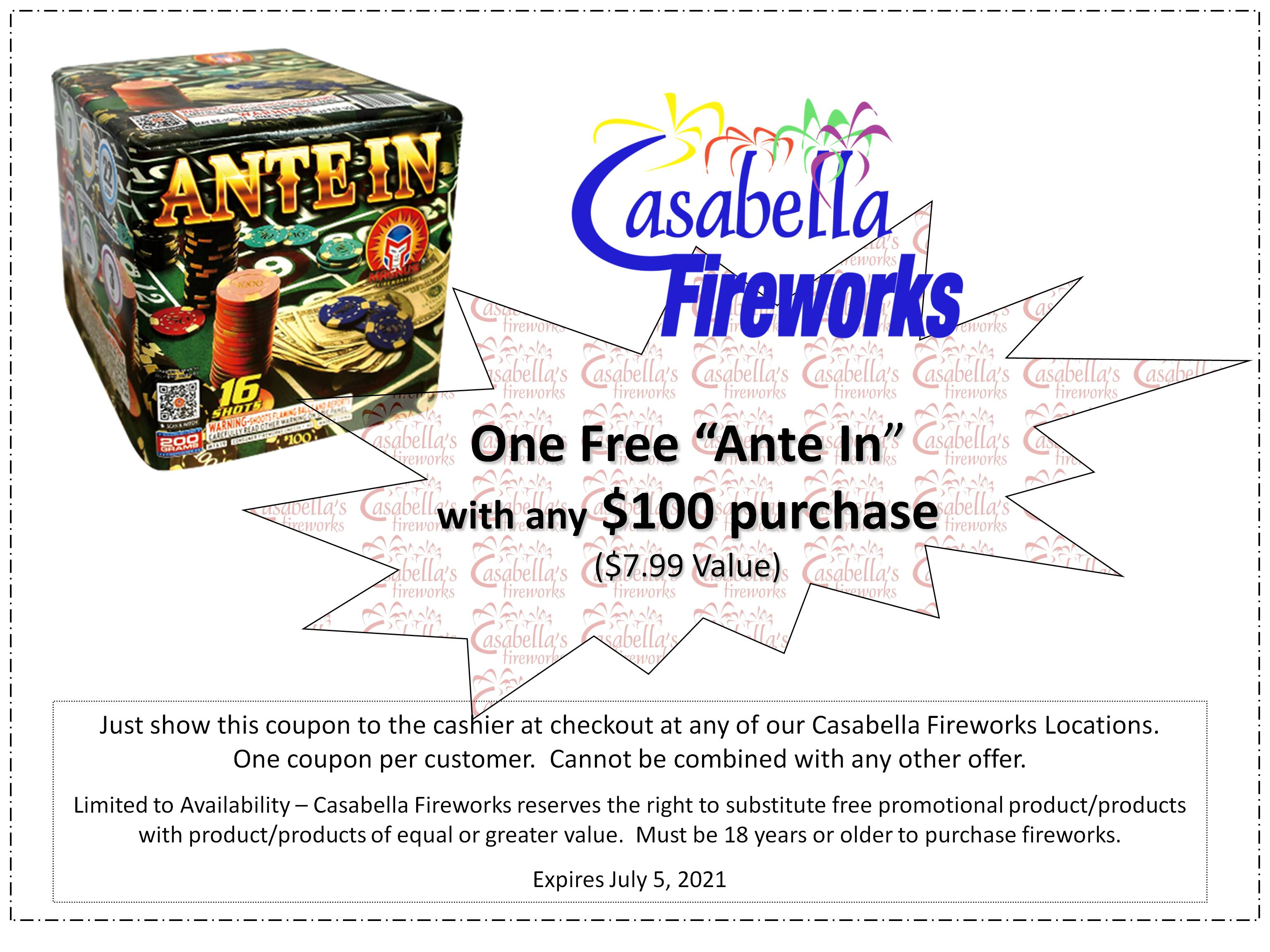 Big fireworks coupons